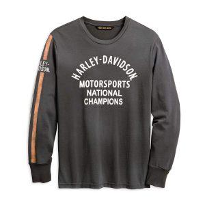 Harley Davidson Mens Motorsport Stripe Long Sleeve Tee