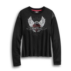 Harley Davidson Winged Heart Long Sleeve Tee