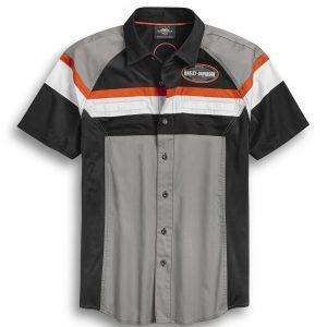 Men's Performance Mesh Side Color Block Button Up Shirt