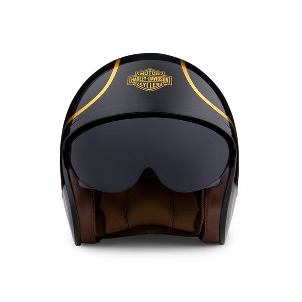 Harley Davidson Helmet Bougie 3/4 ECE(M06) Gloss Black